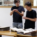Viewing rare books in Classics Reading Room