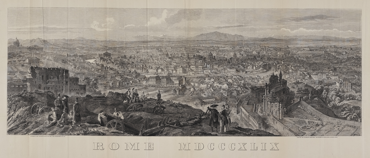 Panoramic view of Rome from The Illustrated London News, Vol. 16 (Jan. to June 1850)