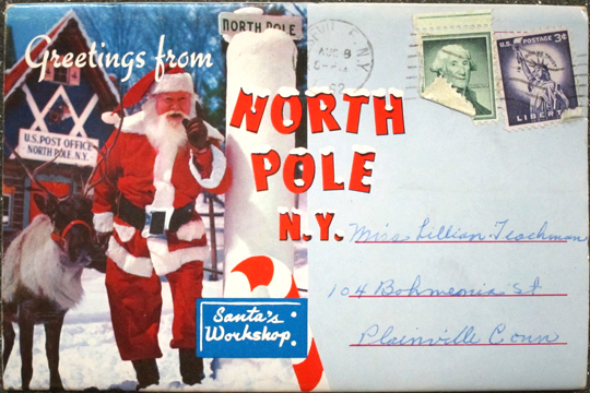 Greetings from north pole ny avery library blog this souvenir folder of folding postcards is part of the avery classics collection which has over three thousand postcard books featuring american cities m4hsunfo