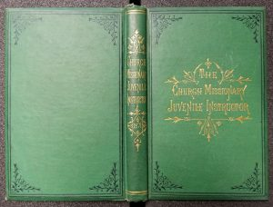 "Green cover of bound volume; the periodical was known as the ""Green Book."" -- The Church Missionary Juvenile Instructor, 1871. https://clio.columbia.edu/catalog/5255257"