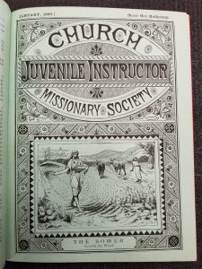 Title page of 1880 issue showing price has remained at a halfpenny. -- Juvenile Instructor / Church Missionary Society, Jan. 1880, p.[1].