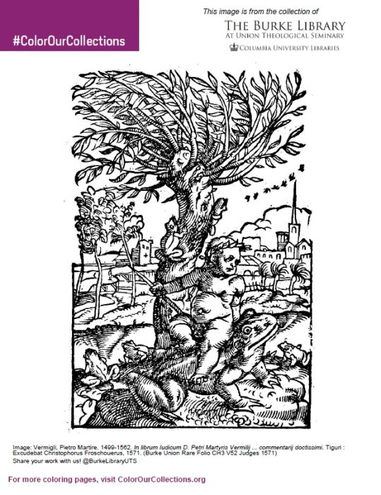 Sample Page From The Burke Library ColorOurCollections 2018 Coloring Book