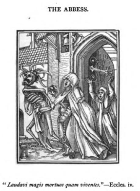 """The Abbess,"" an engraving by Hans Holbein the Younger"