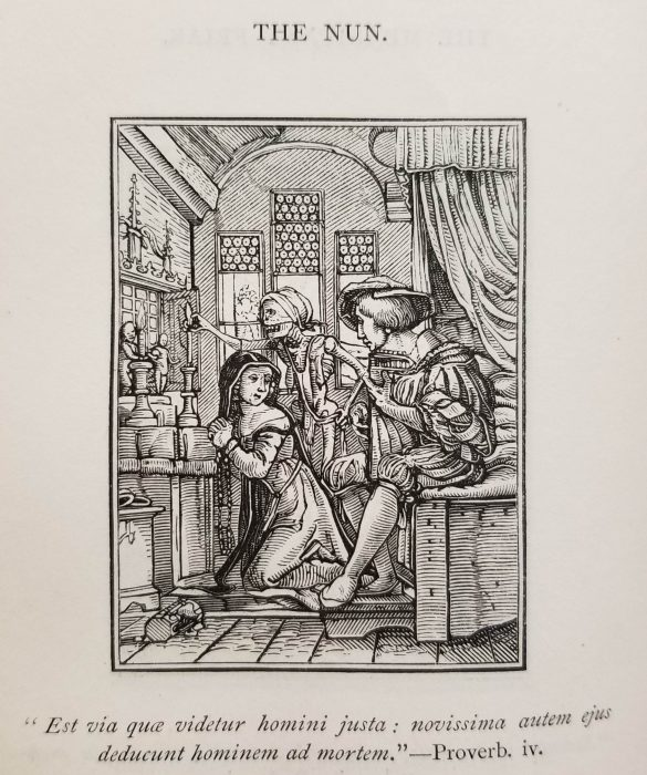 """""""The Nun,"""" an engraving by Hans Holbein the Younger"""