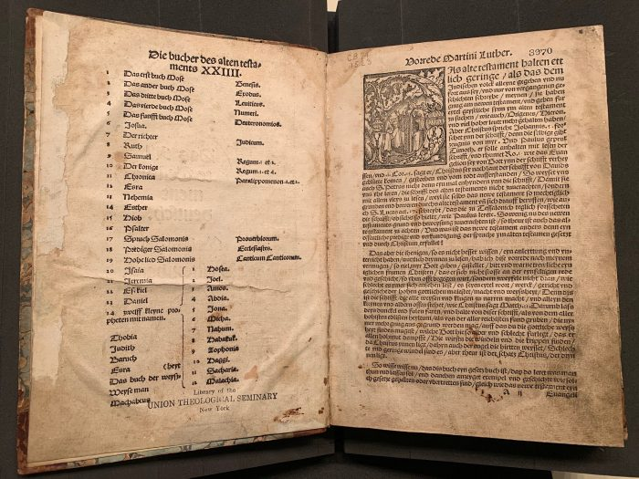 Page from the 1523 edition of Martin Luther's German translation of the Old Testament
