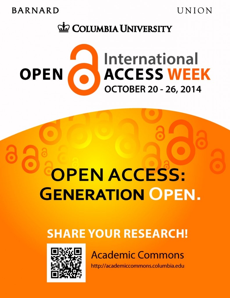 International Open Access Week: October 20 to 26, 2014
