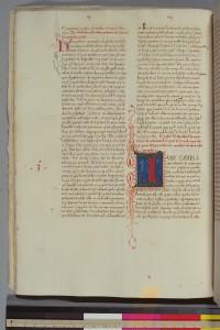 Augustine, De civitate Dei, S. XV; Columbia RBML Plimpton ms 47, f. 20v