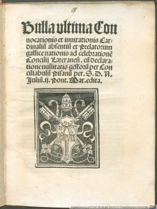 1512 bull from Pope Julius II