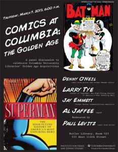 Comics at Columbia: the Golden Age