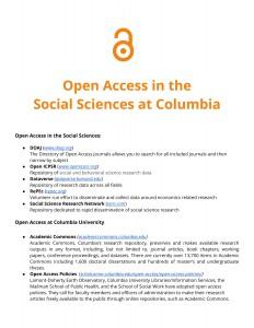 OAWeek2015-SocialSciencesSupplementHandout-1