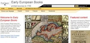 EarlyEuropeanBooks