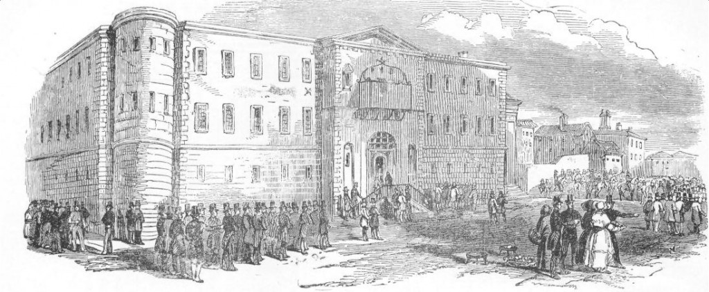 Newgate Prison, where many of those tried at the Old Bailey served their sentences.