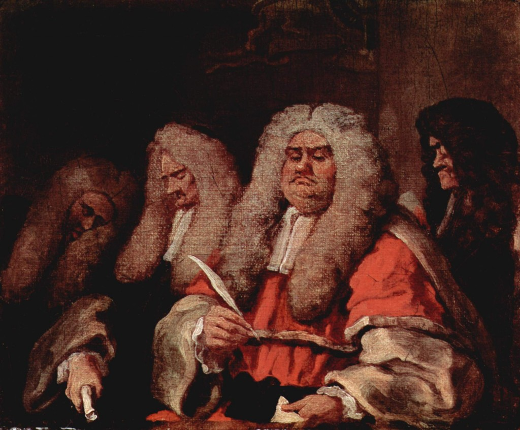 Old Bailey judges according to William Hogarth