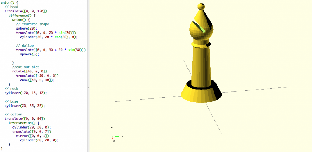 power of OpenSCAD commands