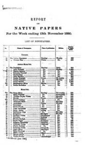 Report on Native Papers