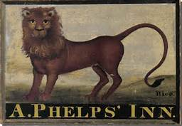 Red Lion Sign