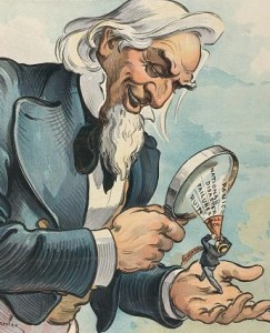 Uncle Sam With Magnifying Glass
