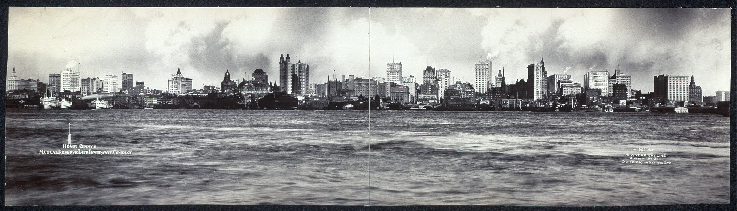 Panoramaic photograph of New York City, taken in 1902.