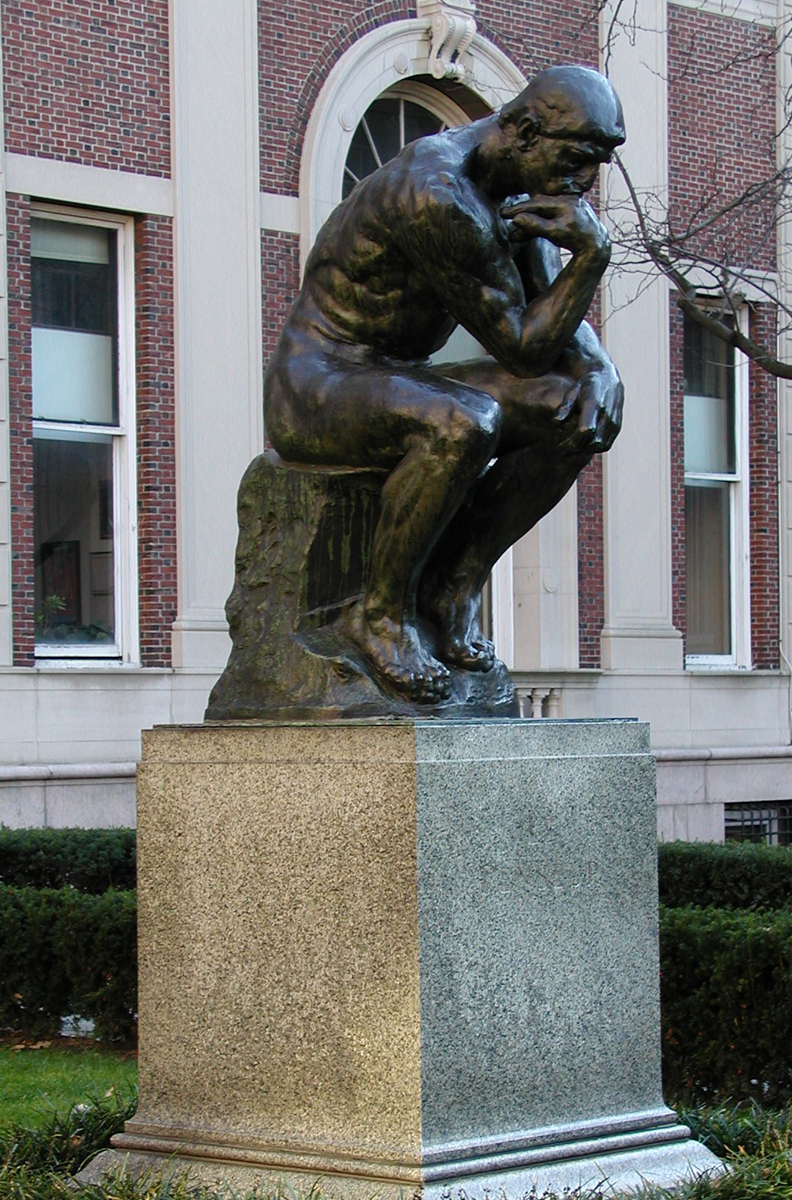 auguste rodin and the thinker public outdoor sculpture at columbia