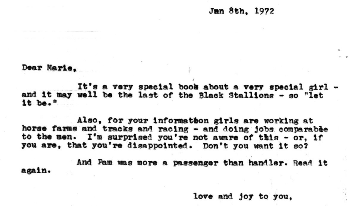 The black stallion news from columbias rare book manuscript mr farley this is war aljukfo Choice Image