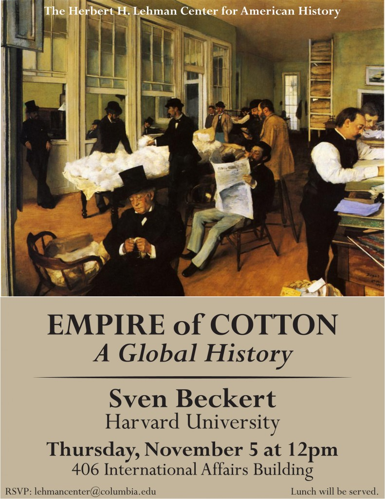 Lehman Center - Beckert Empire of Cotton