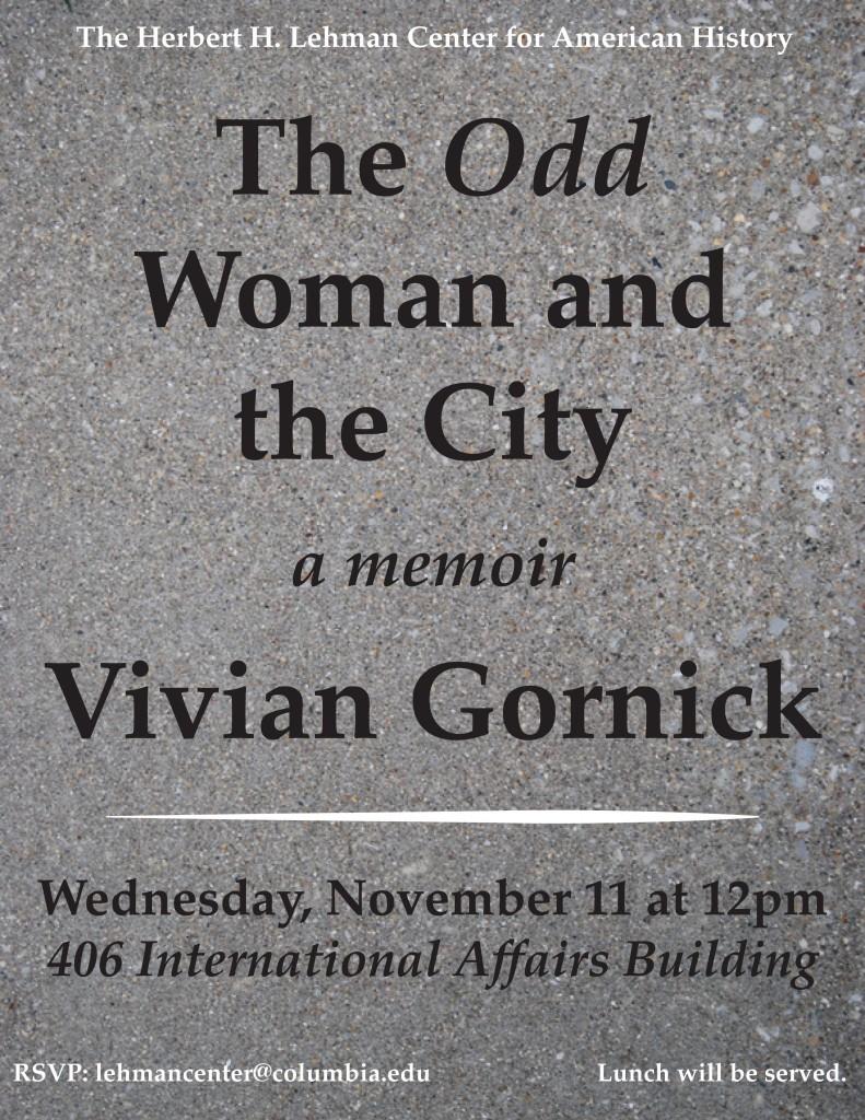 Lehman Center - Gornick Flyer