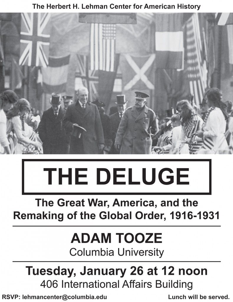 Lehman Center - Tooze Deluge