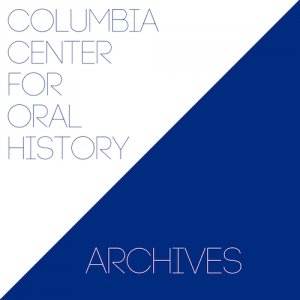 Columbia Center for Oral History Archives blue and white logo