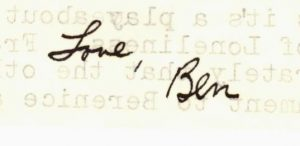 Ben Duncan signature