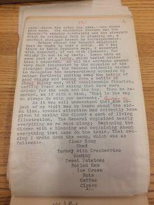 Bancroft diary about plantation