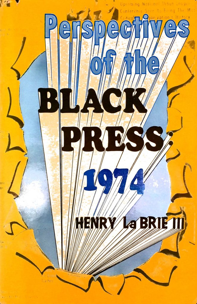 yellow book cover for Perspectives of the Black Press 1974