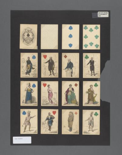 play cards of various suites and iconic figures