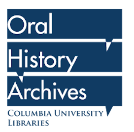 square word bubble with words oral history archives