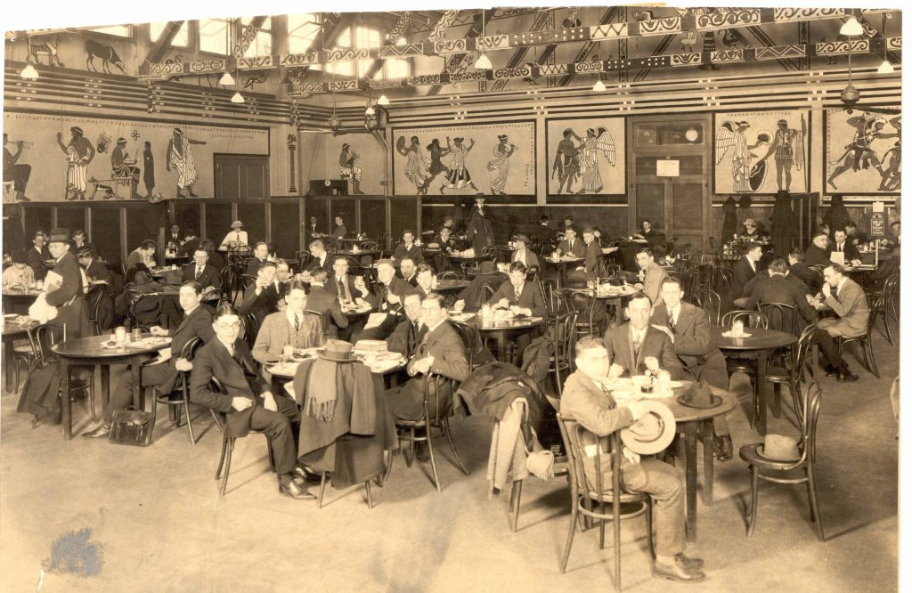 University Commons dining room, 1919