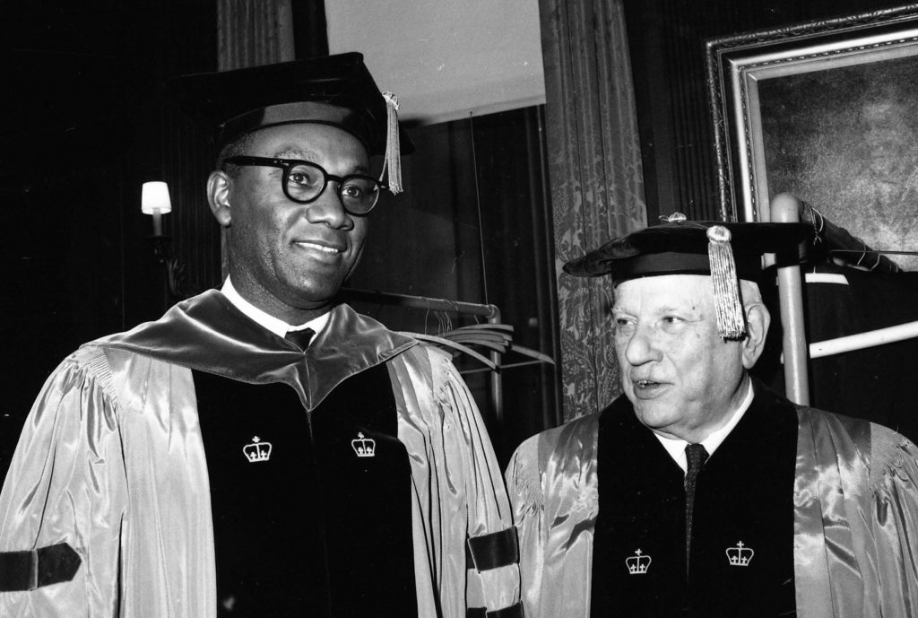 Dr. M. Moran Weston and President Andrew W. Cordier