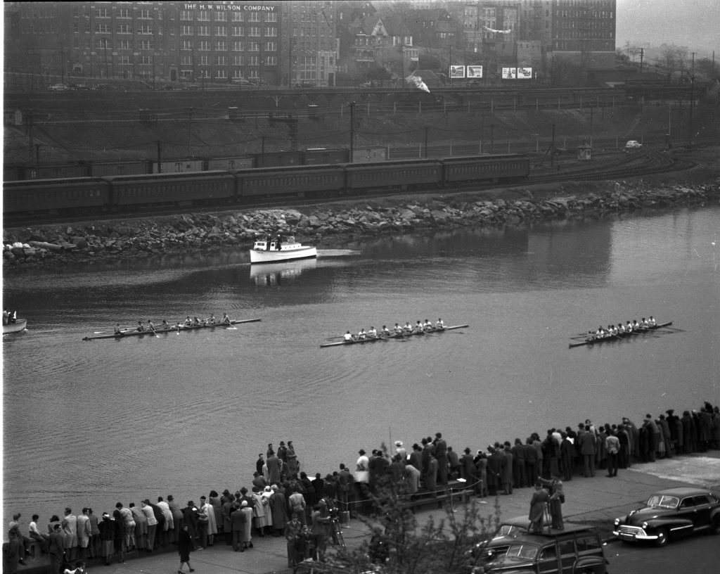 Blackwell Cup crew race on the Harlem River.