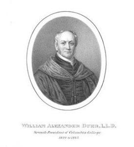 Portrait of Columbia President William Alexander Duer