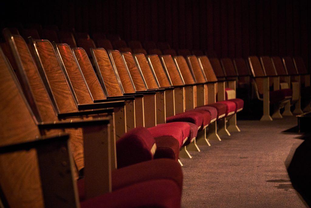 empty theatre seats row