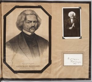Frederick Douglass page from Gumby Scrapbooks