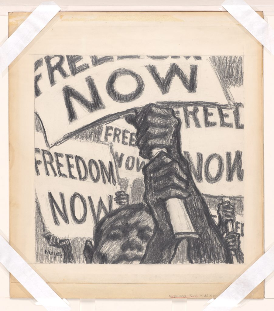 Drawing of Civil Rights Protest Signs