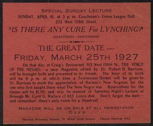 Anti-Lynching Pamphlet, 1927