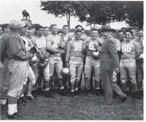 Dwight D. Eisenhower with Coach Lou Little and Football Players