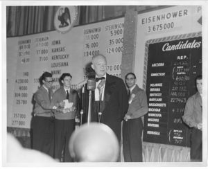 Dwight D. Eisenhower on Election Night, 1952