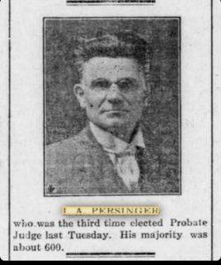 I.A.Persinger newspaper photo