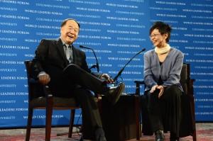 Mo Yan with Lydia Liu